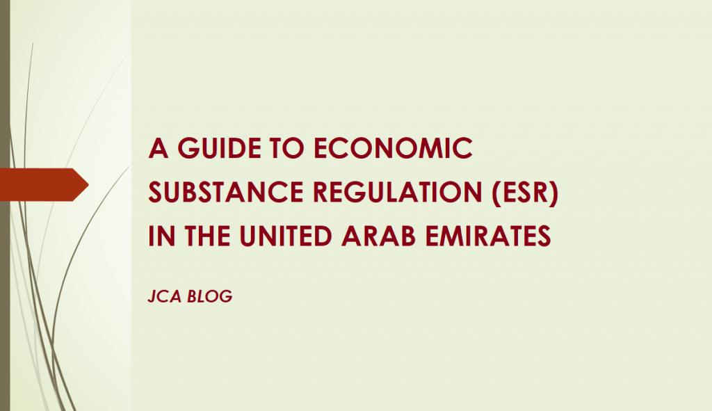 UAE Economic Substance Regulations | ESR Compliance Services UAE