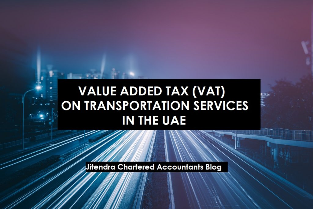 VAT on Transportation Services in the United Arab Emirates